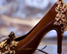 Elegant Dark Chocolate Shoe