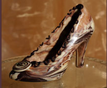Chocolate Stiletto Shoe
