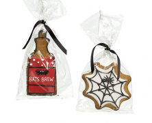Gingerbread Bottle and Cobweb Biscuits
