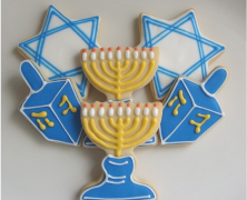 Hanukkah Decorated Cookies
