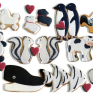 Valentine Animal Cookies