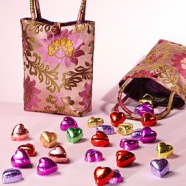 Silk Tote with Chocolates