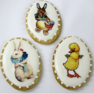 Vintage Easter Egg Cookies