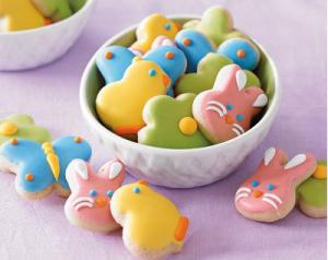 Mini Iced Easter Sugar Cookies