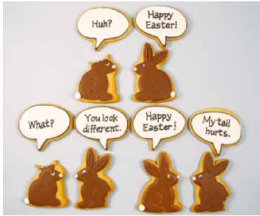 Bite Me Bunnies Easter Cookies