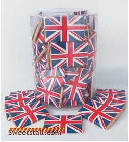 Royal Wedding Union Jack Chocolate Squares
