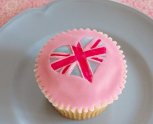 Royal Wedding Pink Union Jack Cupcakes