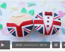 Union Jack Cupcake Tutorial Video