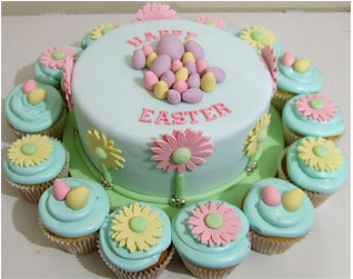Easter Cake & Easter Cupcakes