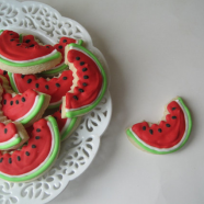 WATERMELON Slices Sugar cookies