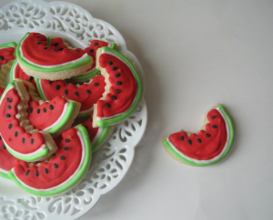 Screen shot 2011 06 22 at 5.36.13 PM 300x242 WATERMELON Slices Sugar cookies