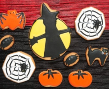Halloween Moon Sugar Cookies