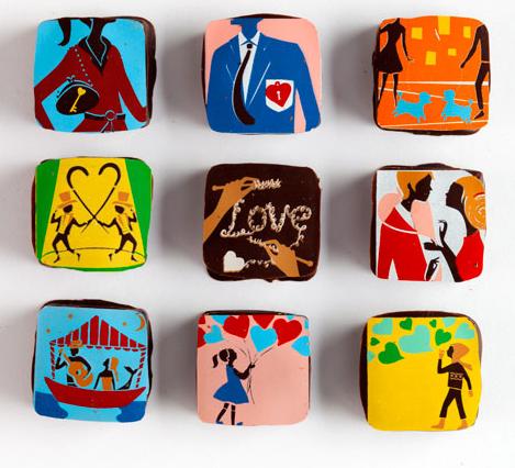 Valentine Stories Ganaches by MarieBelle
