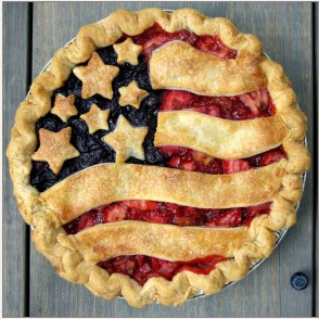 4th of July American Flag Pie